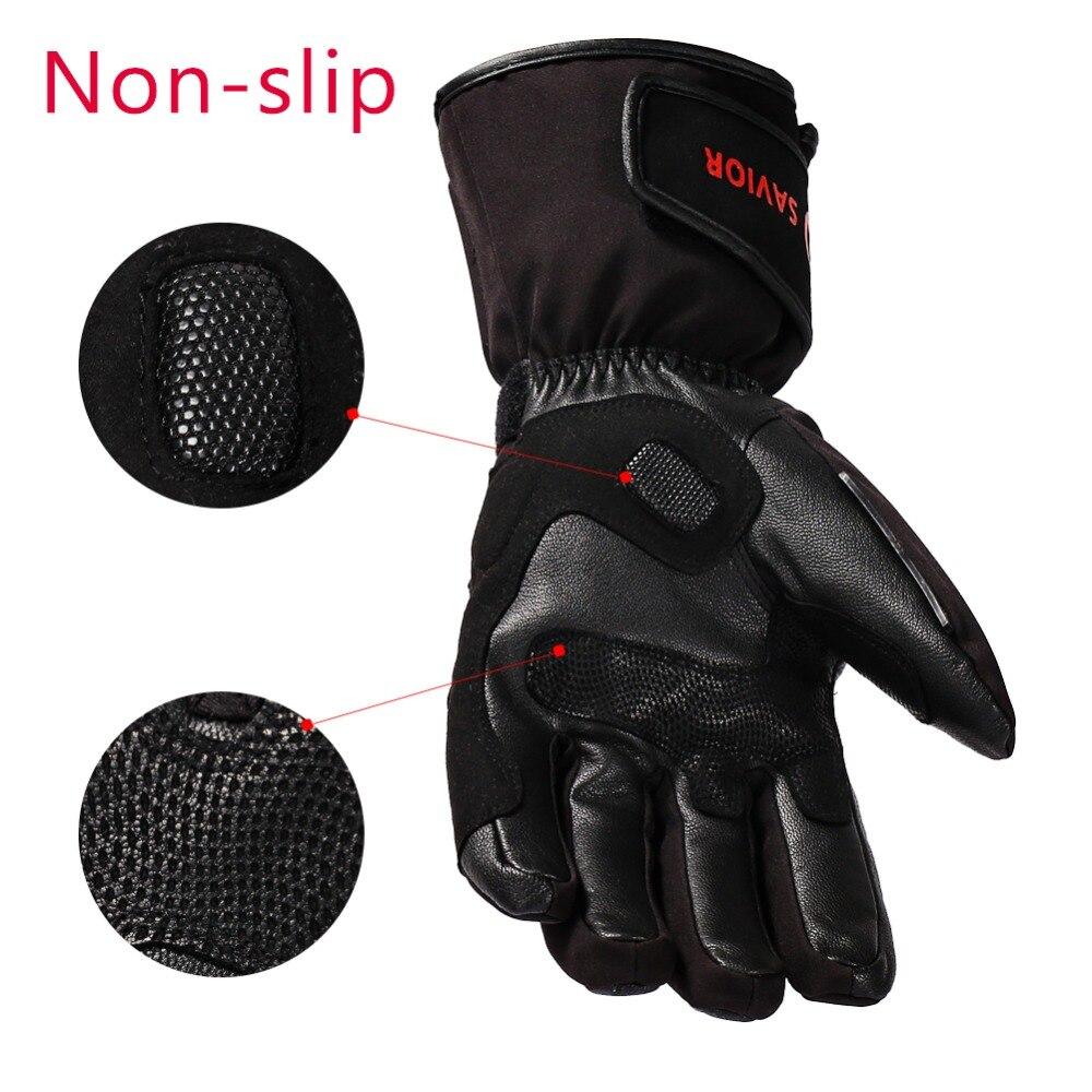 Guantes eléctricos de la motocicleta del Salvador guantes calientes de la calefacción al aire libre del invierno - 3