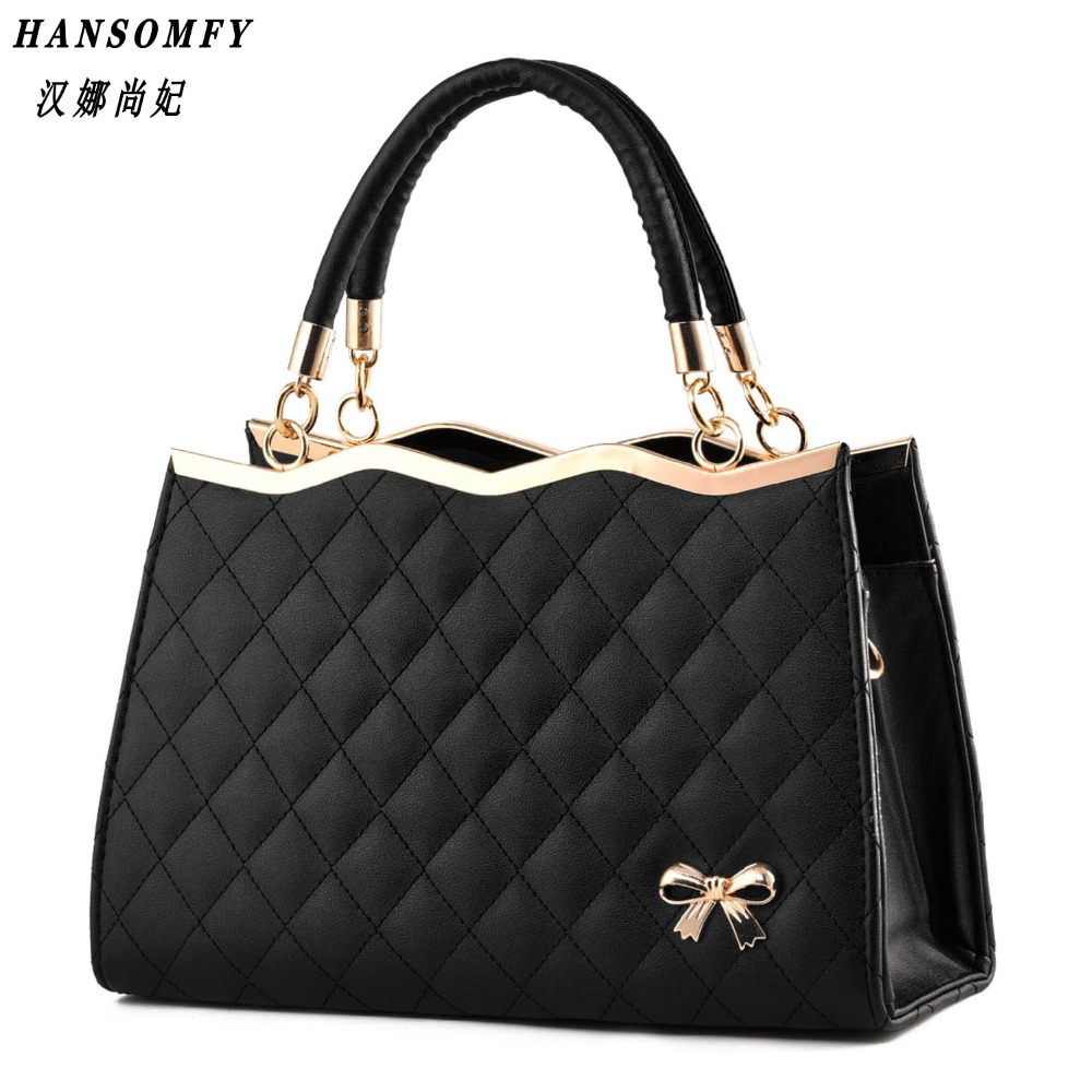 100% Genuine leather Women handbag 2019 New Bow fashion Crossbody Shoulder Handbag women messenger bags