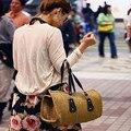 2017 мода Соломой мешки Большой размер ручной работы сумка летние пляжные сумки сумки женщины известные бренды сумка женщины