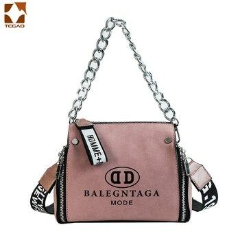 Style japonais et coréen sacs d'hiver pour femmes 2018 dame shell sac large bretelles chaîne sac à main zipper messenger sac