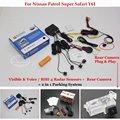 For Nissan Patrol Super Safari Y61 - Car Parking Sensors + Rear View Back Up Camera = 2 in 1 Visual / BIBI Alarm Parking System