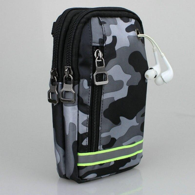 bilder für Handy Geldbörse Tasche Camouflage Wateproof Nylon Hüfttasche Beutel für iPhone Galaxy Huawei Xiaomi Max Sony Google Pixel und mehr