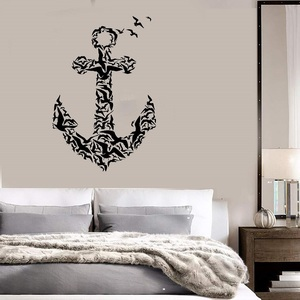 Image 1 - Anchor icon vinyl wall stickers nautical enthusiasts indoor bathroom bathroom home decoration art wall decal 1HH10