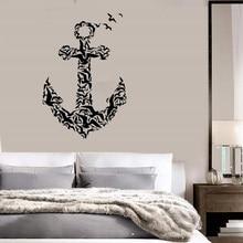 Anker icon vinyl wand aufkleber nautischen enthusiasten indoor bad bad home dekoration kunst wand aufkleber 1HH10