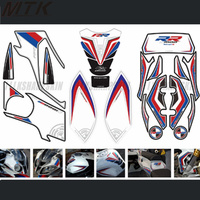 For BMW 2012 2014 s1000RR motorcycle front and rear fairing head sticker 3D gel protector tank