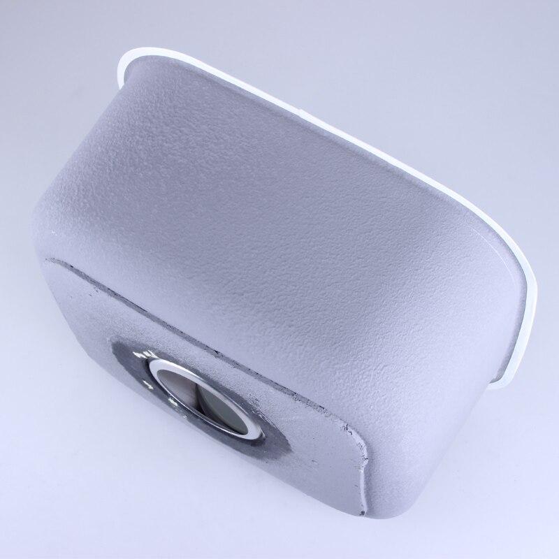 Évier de cuisine fait à la main 41*37*19 CM en acier inoxydable brossé simple bol évier de cuisine avec égouttoir sans robinets de cuisine mx4121715 - 4