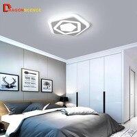 Dragonscence современный светодиодный потолочный светильник для спальни столовая детская комната Кухня Внутреннее освещение шестигранный свет