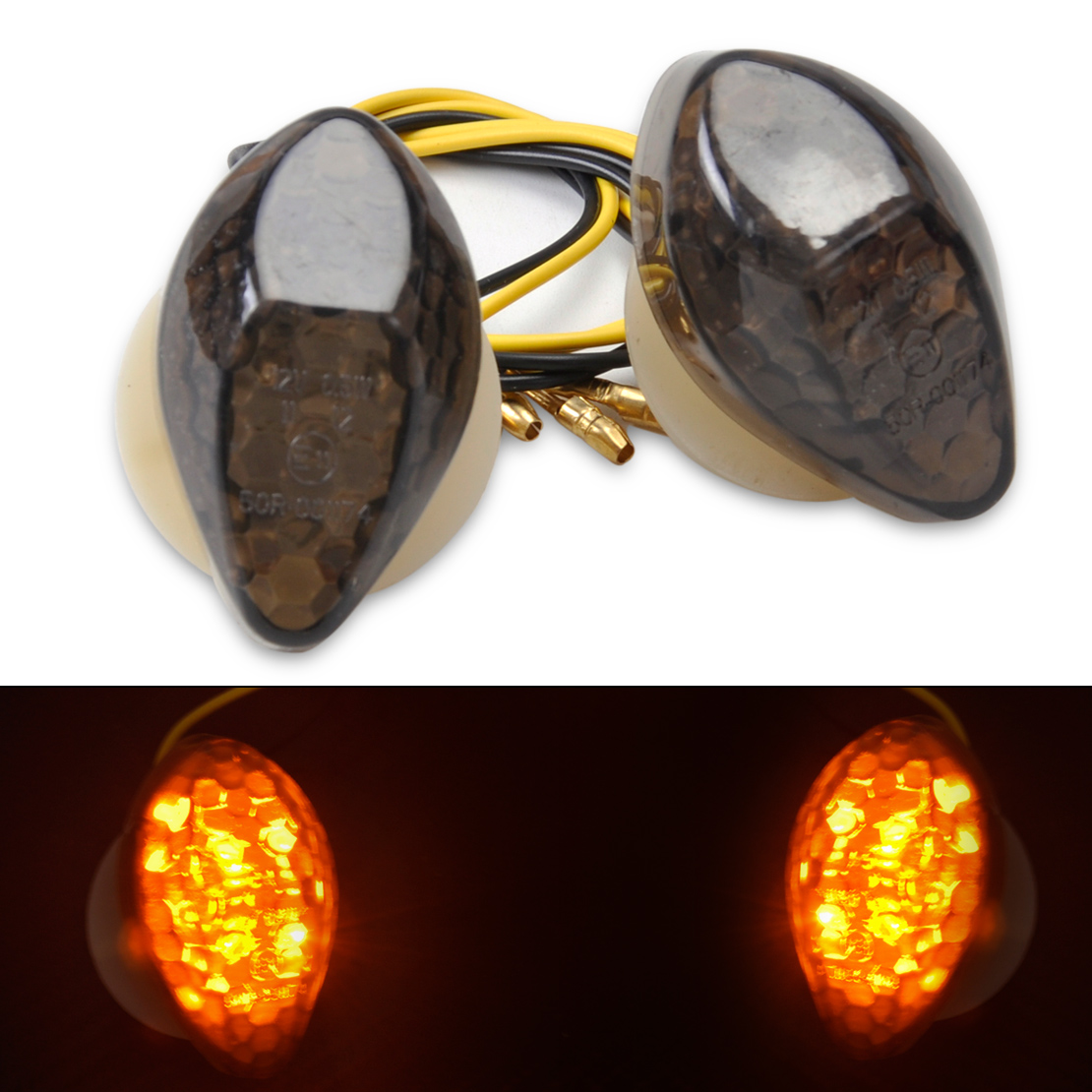 beler 1Set Custom Smoke LED Flush Mount Turn Signal Blinker Marker For Honda CBR 600RR 1000RR 600 F3 600 F4i 900RR CB 919F