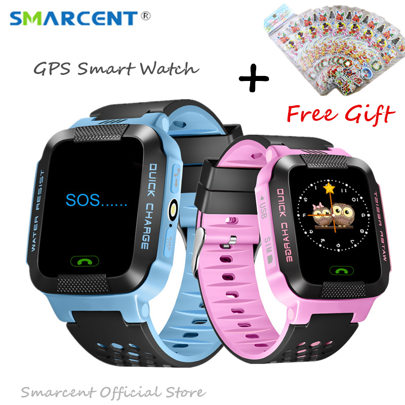 GPS Rracker Children Smart Watch 1 44 Inch Touch Screen With Flashlight SOS Anti Lost GSM