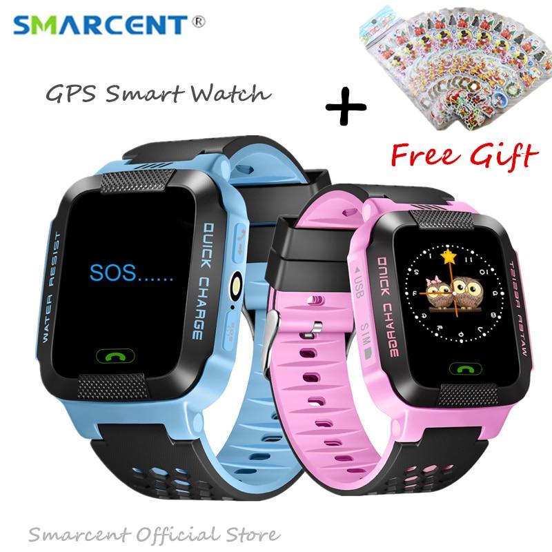 GPS Rracker Children Smart Watch 1.44 Inch Touch Screen With Flashlight SOS Anti Lost GSM Phone Setracker APP pk Q50 Q90 Q100