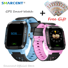 Y21g GPS Rracker Children Smart Watch 1.44 Inch Touch Screen With Flashlight SOS Anti Lost GSM Phone Setracker APP