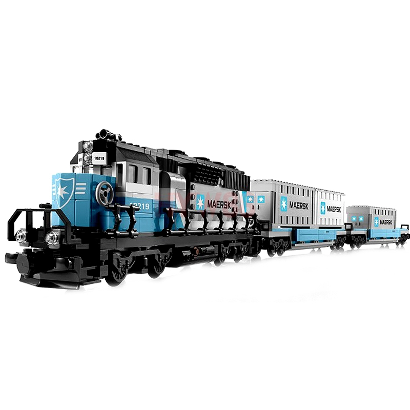 the the Maersk Technic 21006 1234Pcs Genuine Ultimate Series the Maersk Train Set Building Blocks Bricks