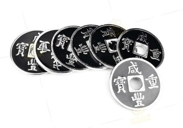 Pack of 5 pcs Coins Magic Tricks Chinese Coin US Half Dollar Size, Magic Accessories Gimmick Free Shipping