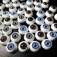 新しい120ピース(60 pairs) 12ミリメートル人形眼球ハーフラウンドアクリルeyesfor diy人形工芸ミックスカラープラスチック人形眼球人形玩具パーツ