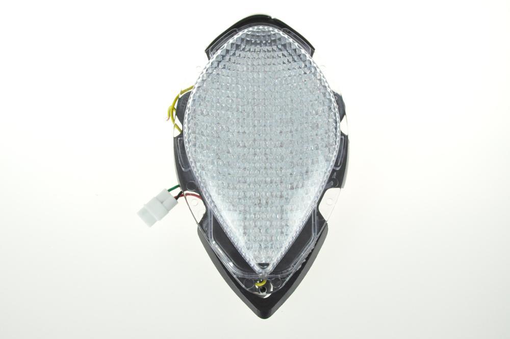 Светодиодный Встроенный задний фонарь сигнала поворота для YAMAHA Road Star зоны подушки безопасности для 04-08 - Цвет: Прозрачный
