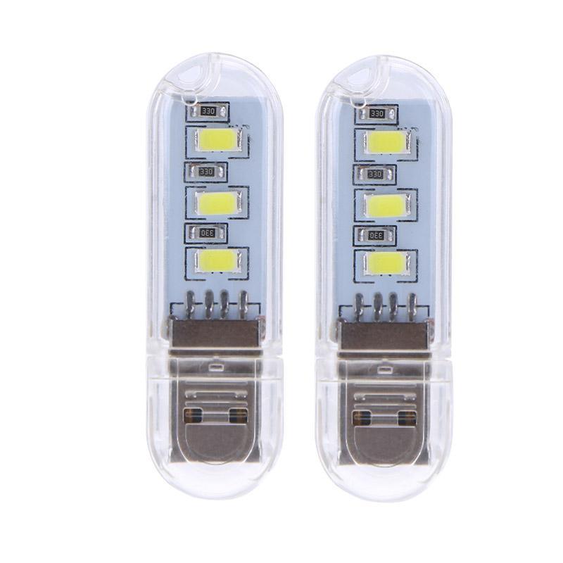 2pcs U Disk Shape LED USB Night Light Portable Mini Computer Lamp for PC Desktop Laptop Notebook Reading USB Gadgets