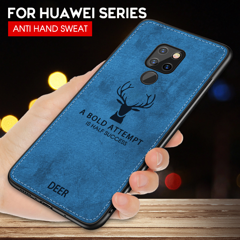 Cloth Deer Soft Case Huawei Phone Cover  1
