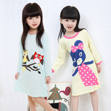 Girl Home Clothes 3-11Y New 2018 Autumn spring Style gift for Girl Nightgowns Children Cloth Girls Sleepwear Kids Girls Princess
