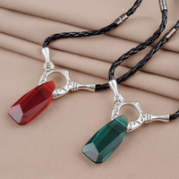 Solid 925 Sterling Silver DMC Devil May Cry Dante Vergil Pendant Necklace For Women Men Game Replica Jewelry Drop Ship