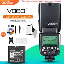 Godox V860II C V860II N V860II S V860II F V860II O TTL HSS Batteria Li Ion Speedlite Flash per Canon Nikon Sony Fuji Olympus