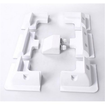 1sets / Lot White color ABS Solar Panel Mounting Bracket Kits Cable Entry Gand Ideal 7pcs / set for Caravan Motorhome RV