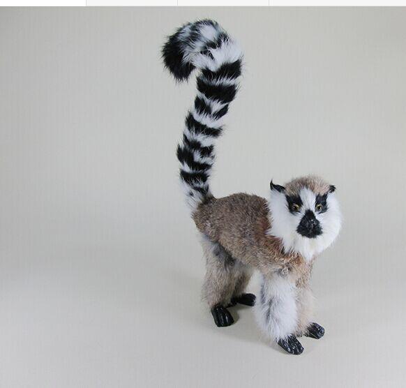 Новый Творческий моделирование Лемур игрушка Ремесленная Реалистичного серый обезьяна модель подарок около 22x7x32 см