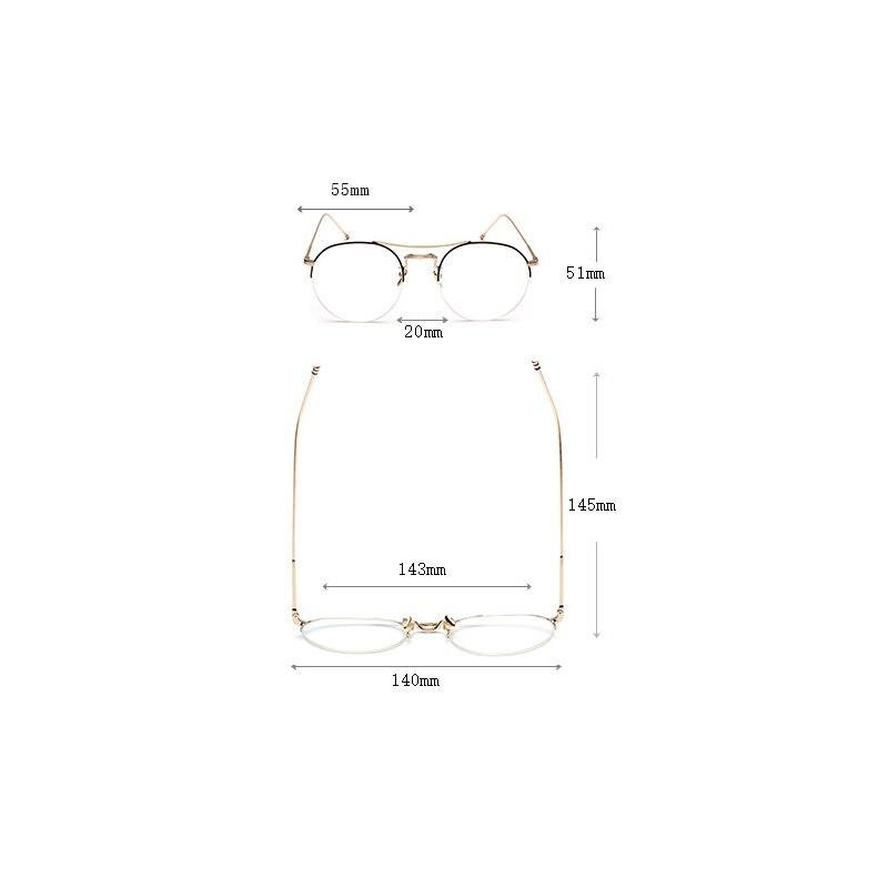 c225abe994 Alloy Glasses Frame Ultralight Women Rose gold Semi Rimless Prescription  Eyeglasses Myopia Spectacles Men s Half Optical Frames -in Eyewear Frames  from ...