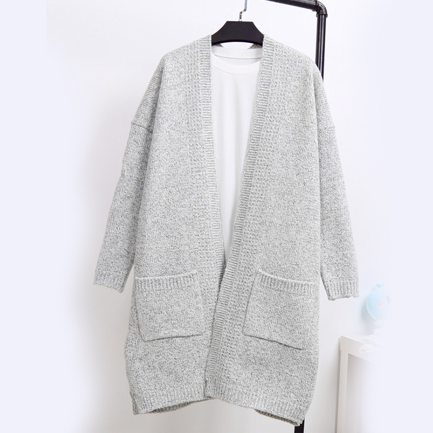 4ec8bade788 New Winter Women Casual Long Sleeve Knitted Cardigans Autumn Crochet Ladies  Sweaters Fashion Tricotado Cardigan Women Sweater-in Cardigans from Women s  ...