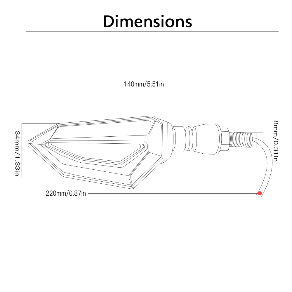 universal motorcycle turn signal light indicators amber led lights for yamaha fz6 xmax xmax 300 tmax [ 1000 x 1000 Pixel ]