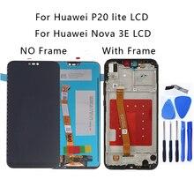 """5.84 """"aaa para huawei p20 lite display lcd tela de toque digitador assembléia substituição para huawei nova 3e com kit reparo quadro"""
