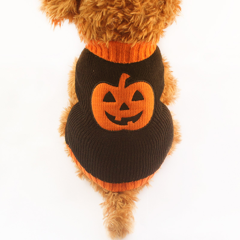 armi store halloween pumpkin pattern dog sweater knitted sweaters for dogs 6091012 puppy autumn winter clothing supplies - Halloween Supply Store