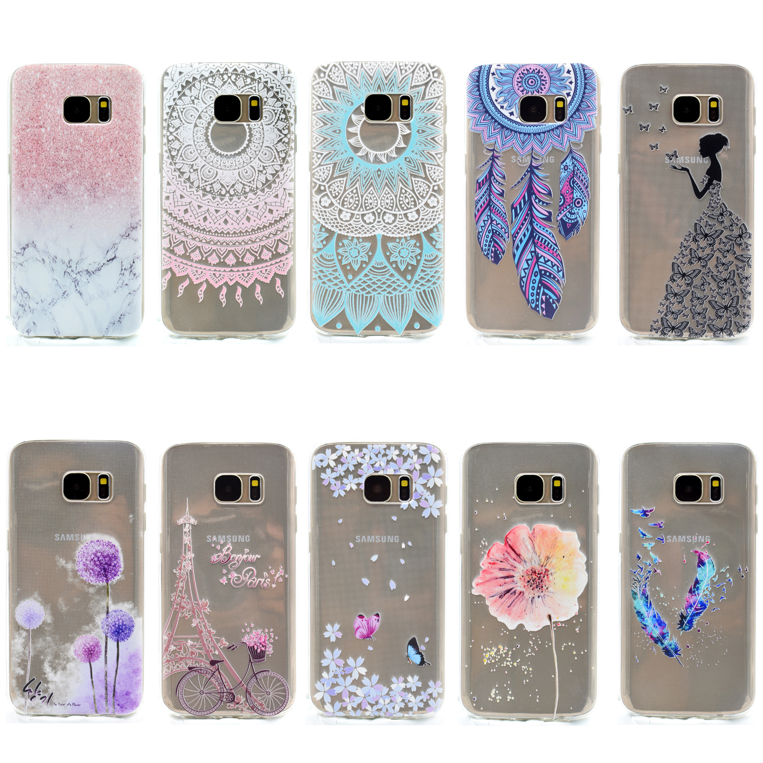 cute clear tpu silicone cover fundas coque for samsung. Black Bedroom Furniture Sets. Home Design Ideas