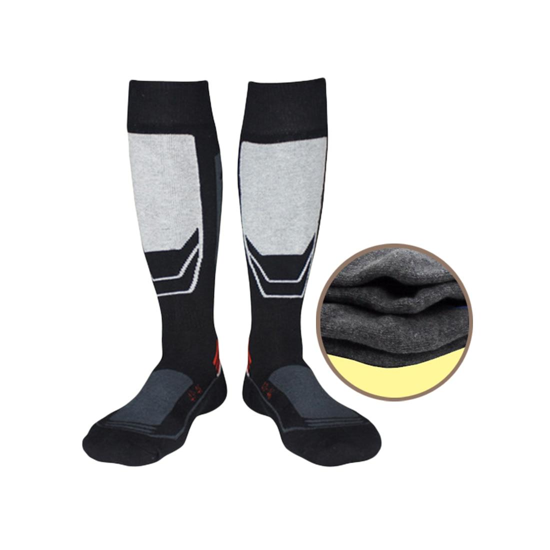 Warm Men Thermal Ski Socks Thick Cotton Sports Snowboard Cycling Skiing Soccer Socks Thermosocks Leg Warmers calcetas ciclismo