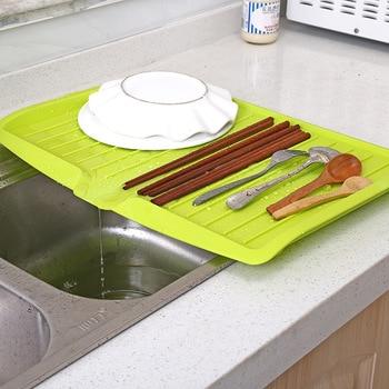 Nieuwe Afvoer Rack Keuken Plastic Afdruiprek Lade Grote Wastafel Droogrek Werkblad Organizer droogrek voor gerechten Dropshipping