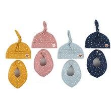 Корейский Winghouse для маленьких девочек и мальчиков, шапка, шарф, набор, принт со звездой, детская хлопковая шапка, шапочка, нагрудник