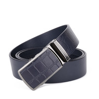 New Genuine Cow Leather Men Belts Luxury Brand Strap Male Leather Belt Classic Automatic Buckle Belt