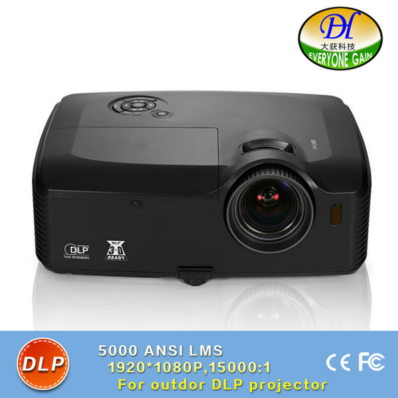 DH-8003 DLP Video Engineering Projector 5000 Lumen Full HD Proyector for 1920*1080 Built in Speaker Projector Support 1920*1200