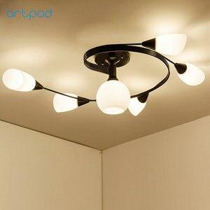 Image 2 - Artpad Moderne Led Kroonluchter Plafondlamp Indoor Verlichten Verlichting Amerikaanse Led Woonkamer Slaapkamer Childern Plafond Verlichting