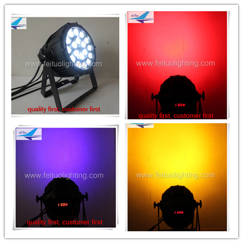 A- outdoor 18x18w 6in1 RGBW + Amber + UV Par Can Lights DMX for DJ Lighting Stage Party (Pack of 4)