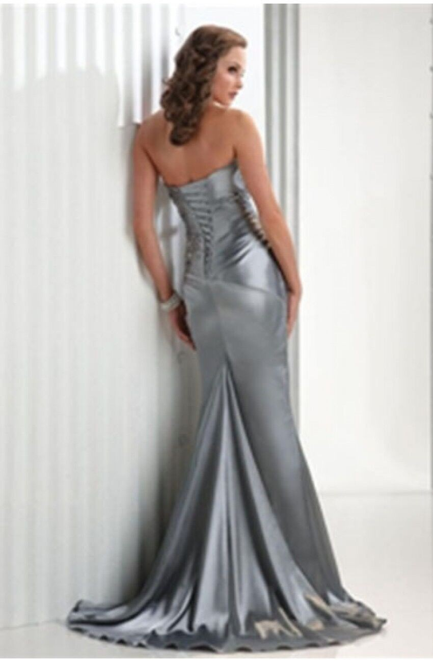 Royal Blue Bridesmaid Dresses Silver Gray High Quality Vestidos De Burdundy Wholesale Corset Long Mermaid Brides Maid Cheap 7