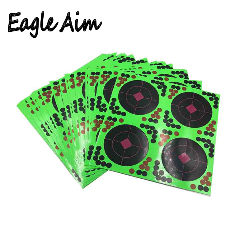 50/100 Sheets 8 Inch Self Adhesive Splatter & Reactive Shooting Targets For Gun-Pistol-Rifle-Airsoft-Pellet Gun- Air Rifle