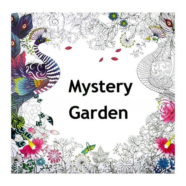 Misterio Jardín Libro Para Colorear para Niños Adultos Antiestrés ...