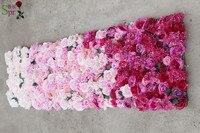 SPR 2,4*2,4 м Бесплатная доставка Свадебные ombre цветок стены белый розовый красный свадебный фон искусственный ряд цветов арки декоративные flore