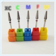 5pcs/set Hot 49mm Silver Carbide Nail Drill Bit Electric Nail File Drill Bit Coarse Carbide Drill Nail Art Tools,Nail files,Mill
