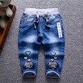 2016 девушки джинсы длинные брюки женские дети хлопок эластичность джинсовые брюки детские весенние и осенние одежды