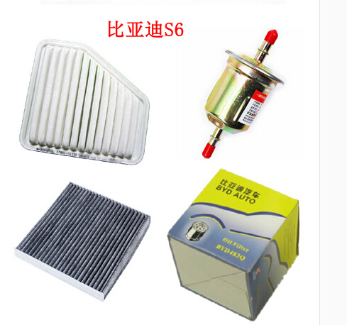 BYD S6 air+air condition+gasoline +Oil filter four filters Free shipping