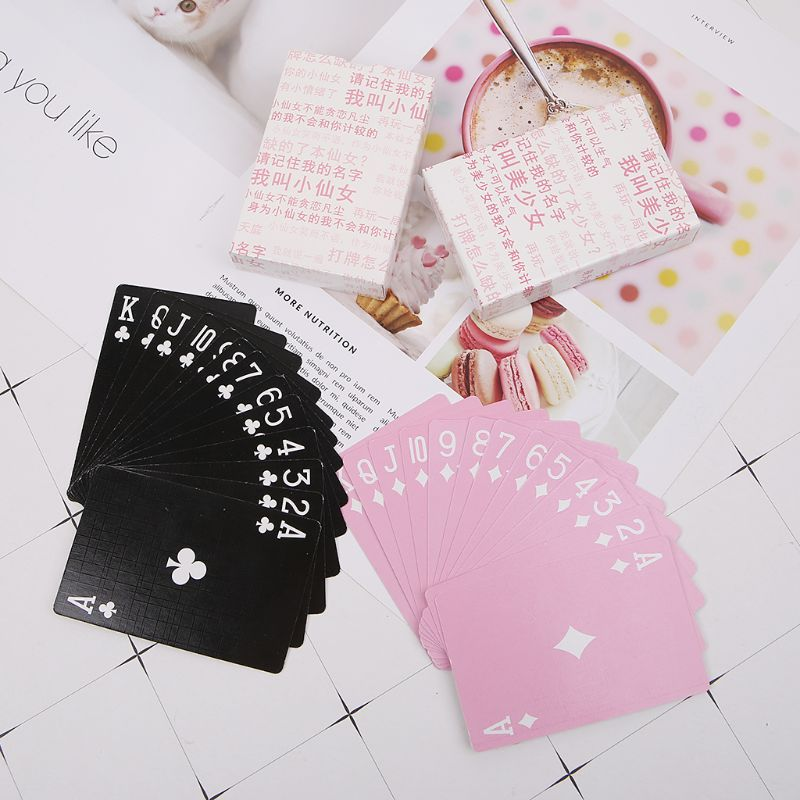 Creative Poker Card Cartoon Anime Playing Cards Board Game Party Gathering Pink Poker Card