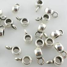 Vintage Silver Mixed Style Connectors Spacer Bail Beads Charms For Bracelet Fashion Jewelry Making Accessories New 10PCS(China)