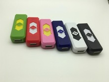 2pcs/lot Candy Color USB charging Lighters Cigarette Electronic Lighter Cigar Rechargeable Flameless Windproof Smoking Gadgets