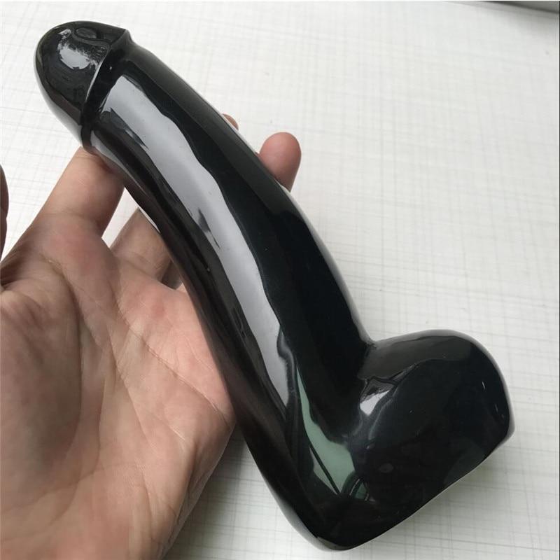 1pc Natural black obsidian hand-carved quartz crystal Massage stick 6.81pc Natural black obsidian hand-carved quartz crystal Massage stick 6.8
